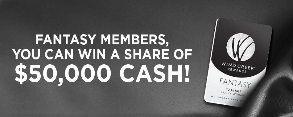 Fantasy Members, You Can Win a Share of $50,000 CASH!